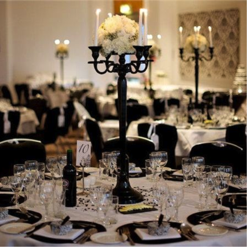 Black and white wedding amanda douglas events event