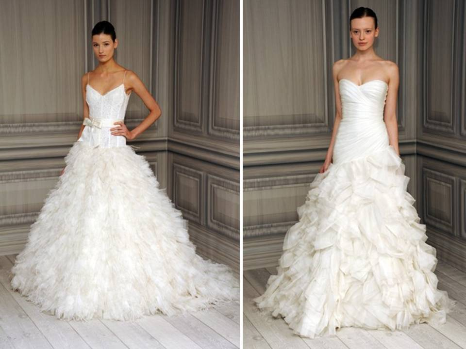 Monique lhuillier dresses amanda douglas events for Sweetheart neckline drop waist wedding dress