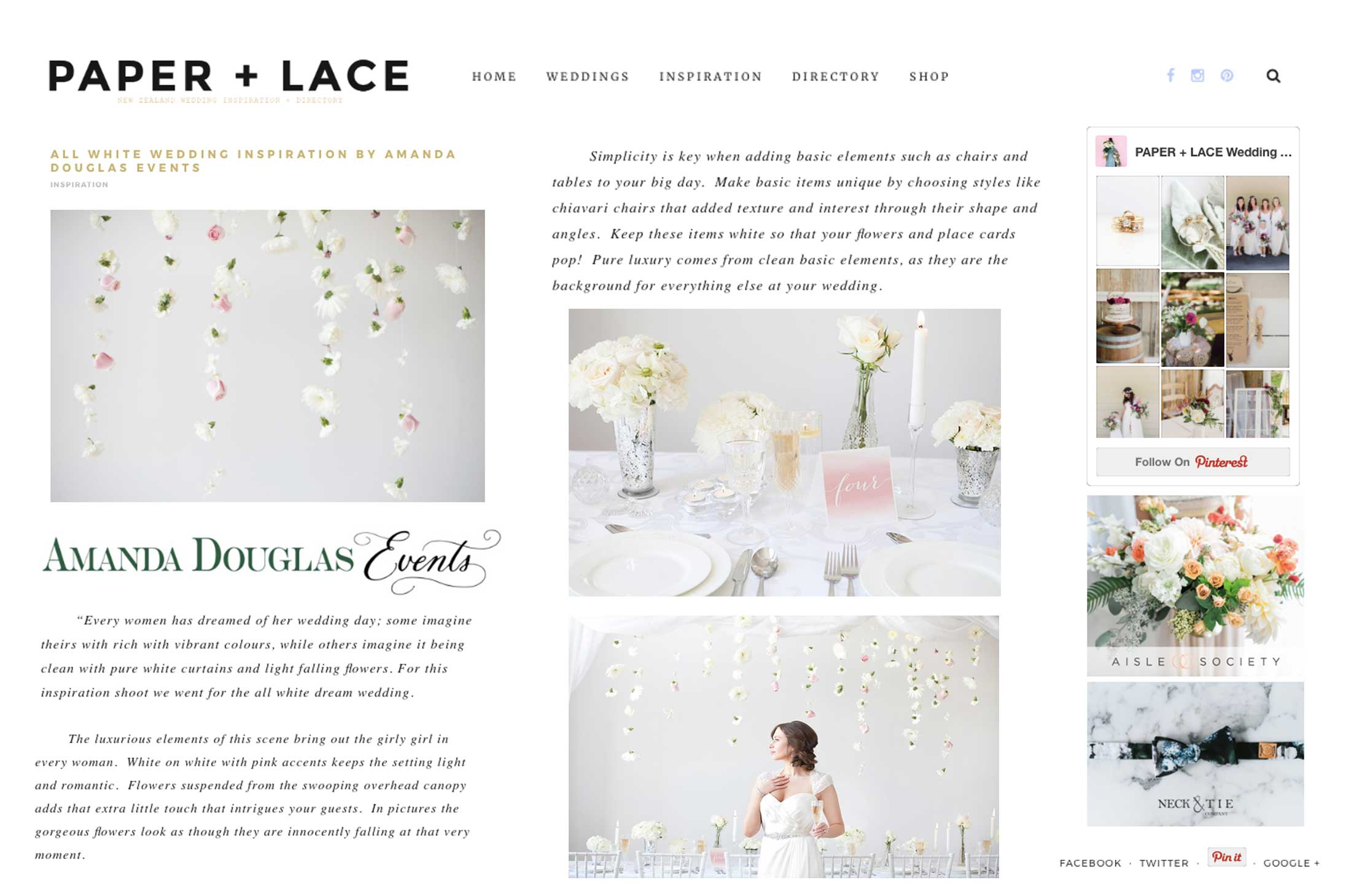 Winnipeg Wedding Planner and Inspiration Feature: Paper + Lace