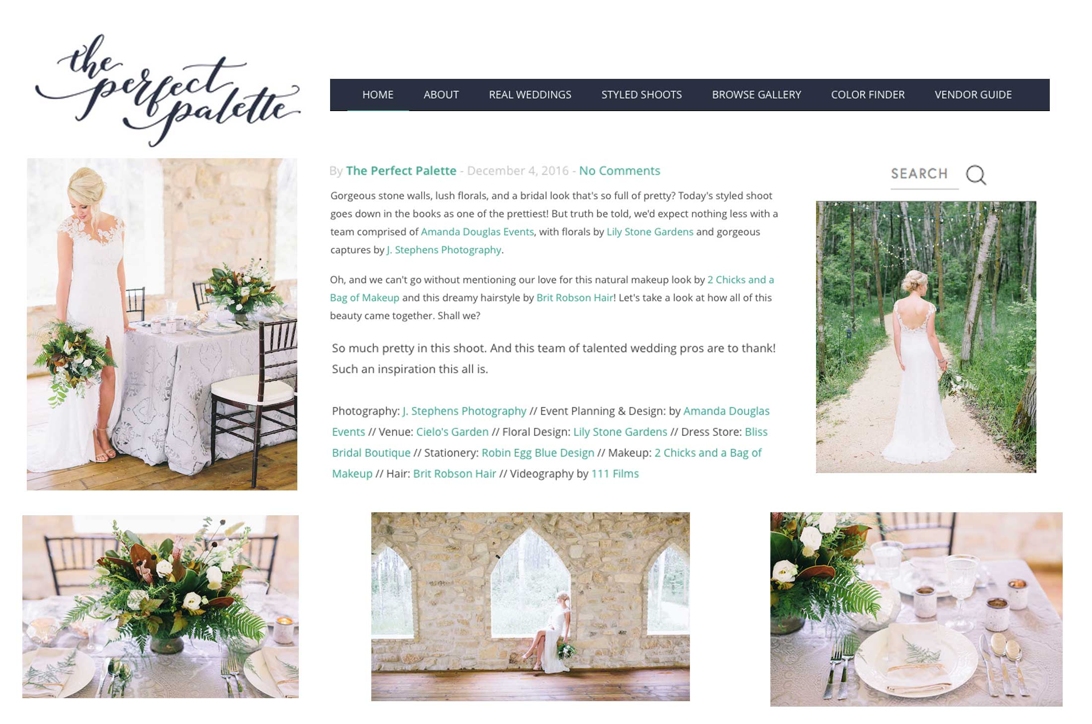 Winnipeg Wedding Planner and Inspiration Feature: The Perfect Palette