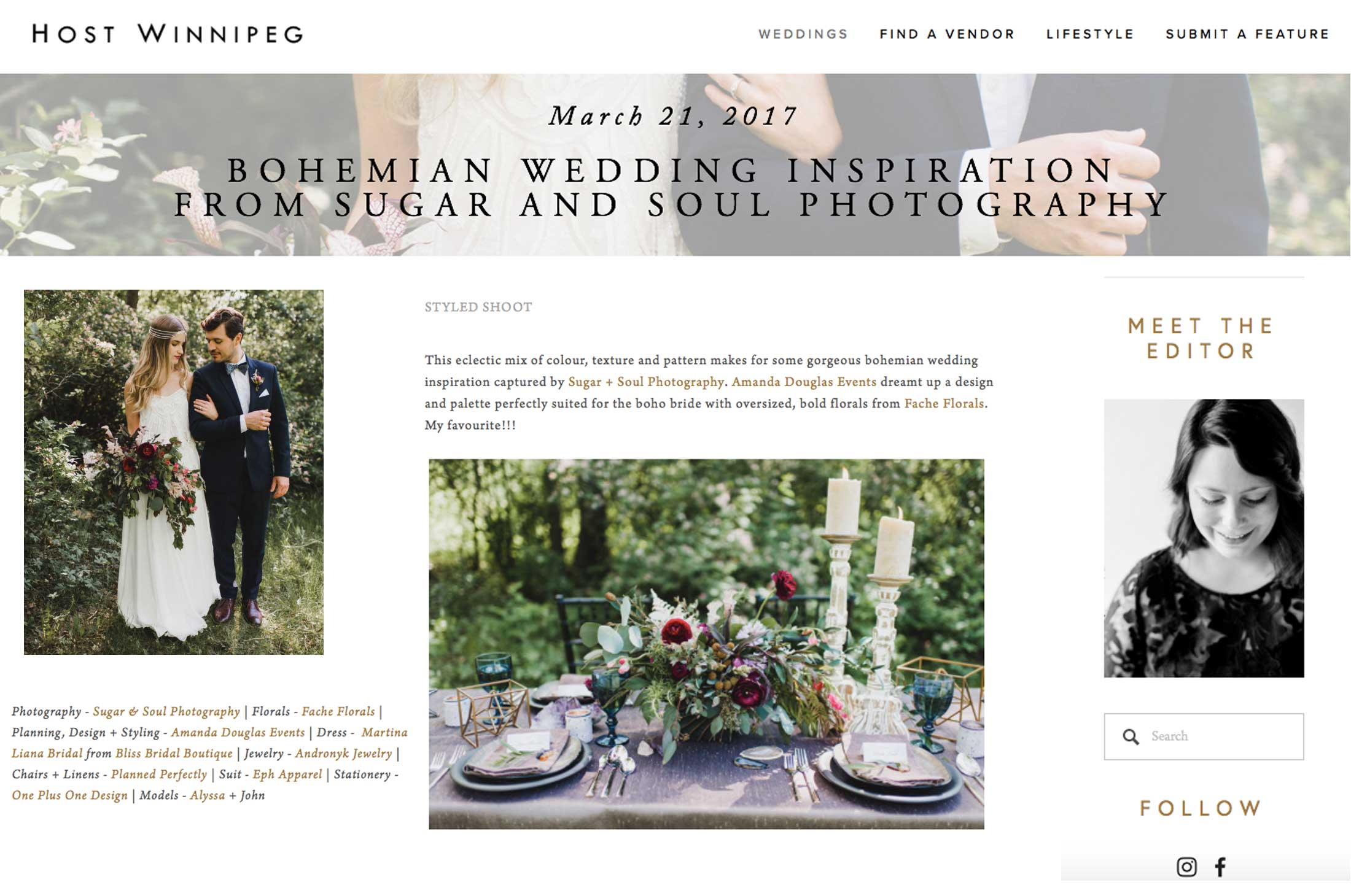 Winnipeg Wedding Planner and Inspiration Feature: Bohemian Rustic Glam Wedding