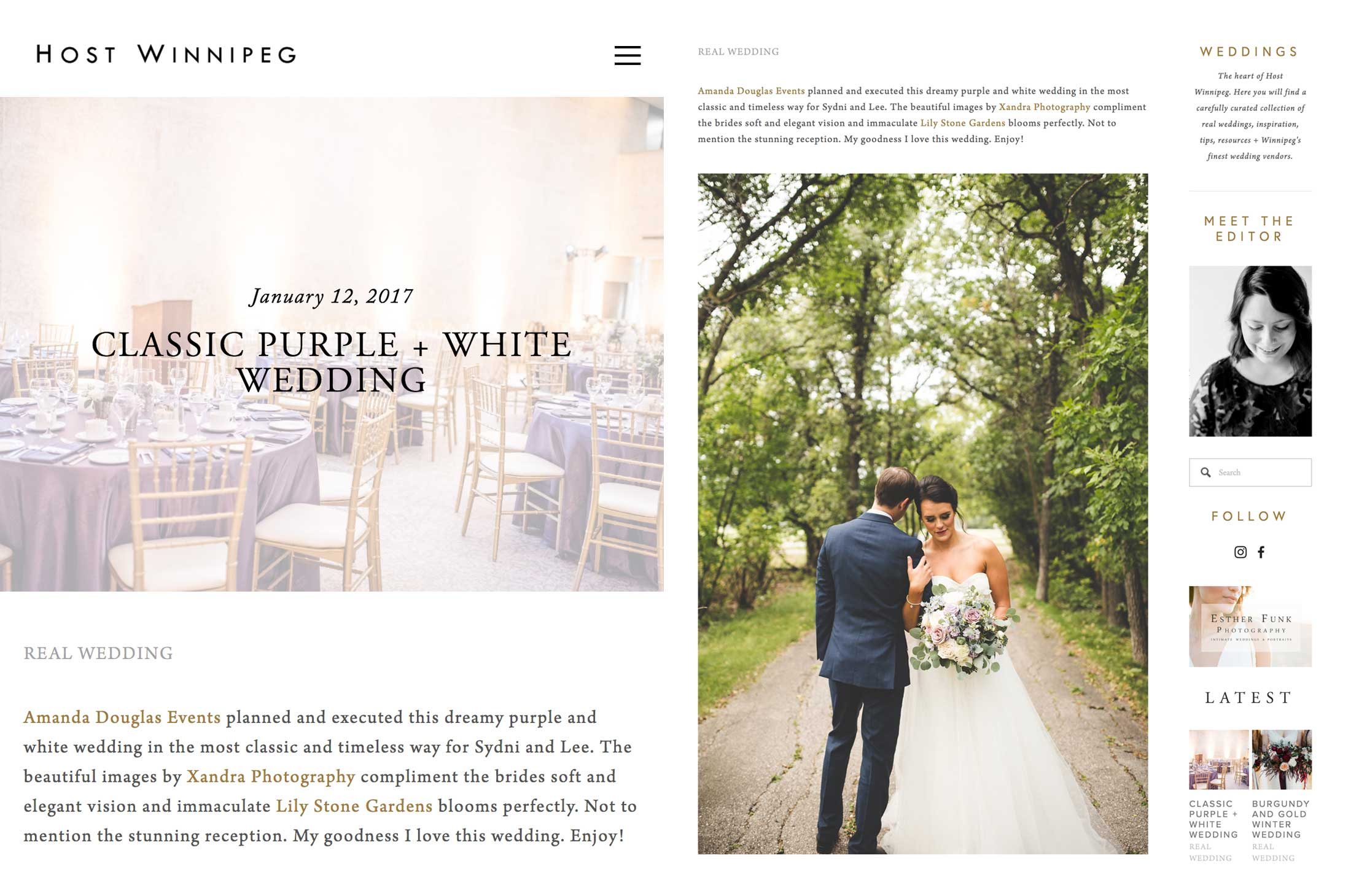 Winnipeg Wedding Planner and Inspiration Feature: Sydni and Lee