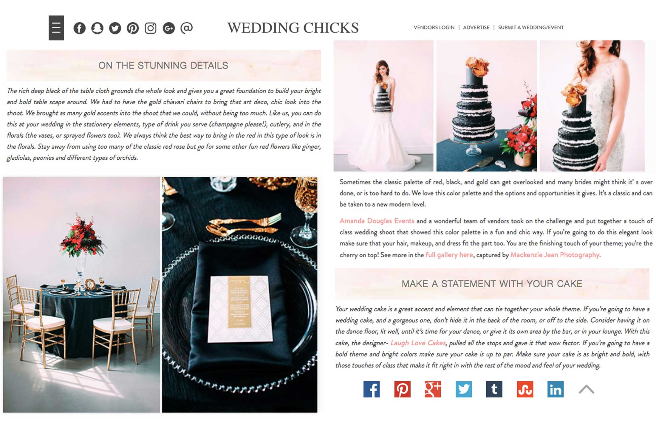 Winnipeg Wedding Planner and Inspiration Feature: All That Glitters